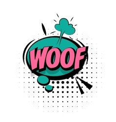 Comic sound effects pop art word Lettering Woof vector image