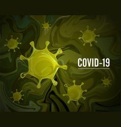 Coronavirus covid19-2019 on a green background vector