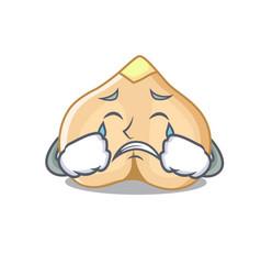 Crying chickpeas mascot cartoon style vector