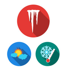 Different weather flat icons in set collection for vector