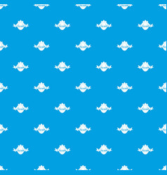 eco fresh food pattern seamless blue vector image