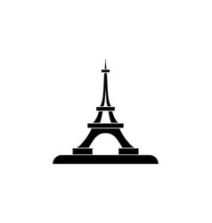 eiffel tower icon black on white background vector image