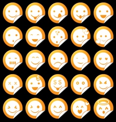 Emoticon Sticker Set vector image