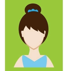 Female avatar or pictogram for social networks vector image