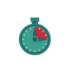Flat stopwatch isolated on white vector