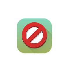 forbidden icon sign symbol vector image