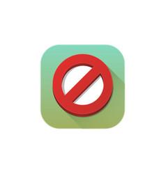 forbidden icon sign symbol vector image