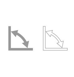 geometry math signs symbols grey set icon vector image
