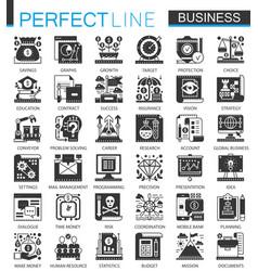 global business classic black mini concept vector image