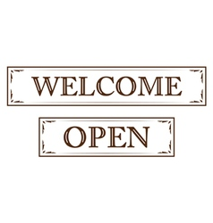 graphic vintage welcome vector image