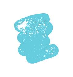 grunge blue ink brush stroke element vector image
