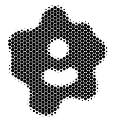 Halftone dot amoeba icon vector