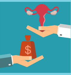 hand of businessman with money and a female vector image