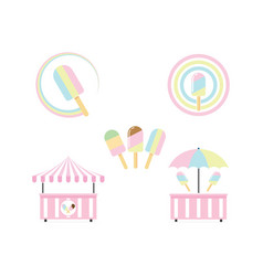 Ice cream bar icon design vector