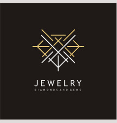 jewelry elegant logo design vector image