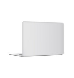 Laptop backside isolated on white background vector
