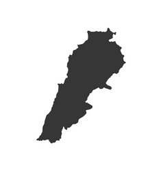 Lebanon map silhouette vector