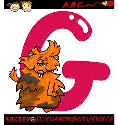 letter g for guinea pig cartoon vector image