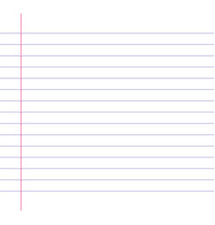 Lined or ruled paper background vector