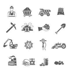 Mining Icons Set vector image
