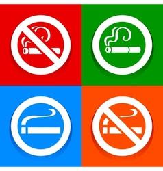 No smoking area - stickers vector
