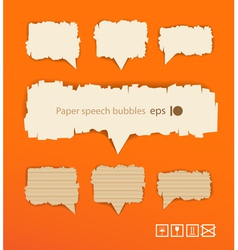 Paper style speech bubbles vector