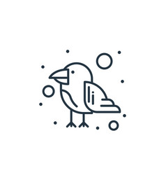 Parrot icon isolated on white background outline vector