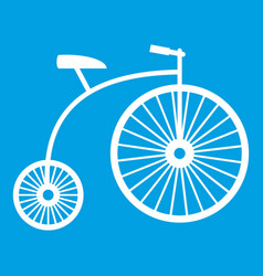 Penny-farthing icon white vector