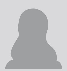 Person gray no photo placeholder woman silhouette vector