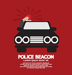 Police beacon at cars roof vector