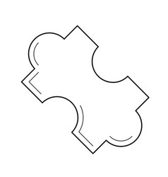 puzzle piece line icon vector image