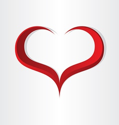Red heart shape abstract icon design vector