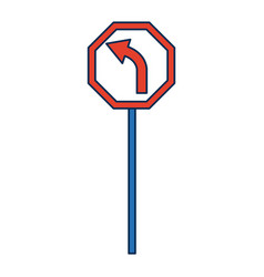 road traffic signal with arrow caution vector image