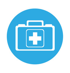 round icon medical bag cartoon vector image
