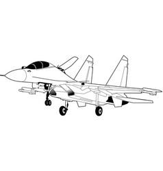 Russian jet fighter aircraft su-30 vector