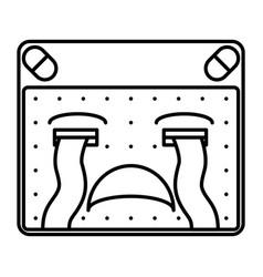sad emoticon vector image