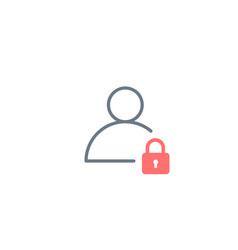 Safety security lock user linear icon password vector