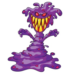 scary violet monster vector image