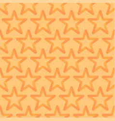 seamless looped pattern with orange stars vector image
