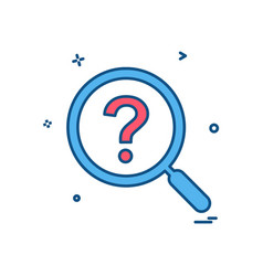 search icon design vector image