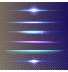 Set glow light effect stars burst vector