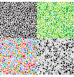 set seamless patterns of small multicolored balls vector image