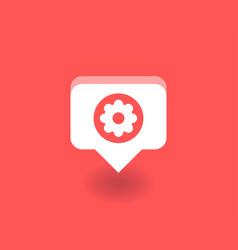 setting icon symbol vector image