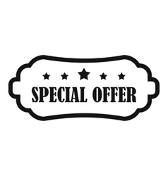 Special offer label icon simple style vector