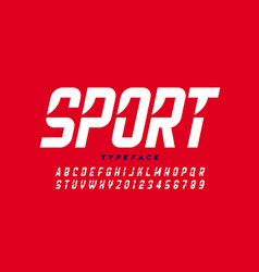 Sport style font vector