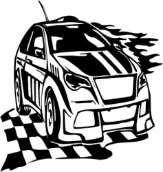 street racing cars vector image