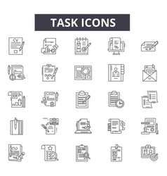 task line icons for web and mobile design vector image
