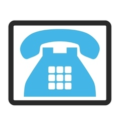 Tone Phone Framed Icon vector