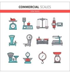 Trade scales set vector