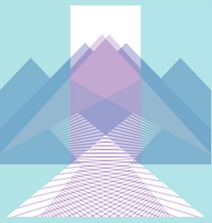 trendy background mountains and roads flat style vector image